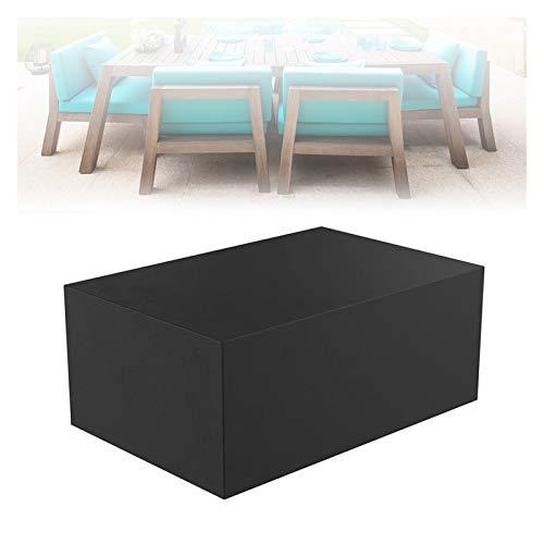 ASPZQ Cubiertas para Muebles de Jardín, Cubierta Mesa Patio, 210D Tela Oxford Impermeable Rectangular/Ovalado Funda para Silla Sofá, Tamaño Personalizable (Color : Negro, Size : 180×120×70cm)