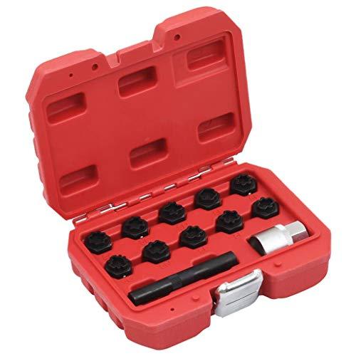 Festnight 12-TLG. Felgenschloss-Demontagewerkzeug-Set für Mercedes Radbolzen Knacker Demontage Werkzeug