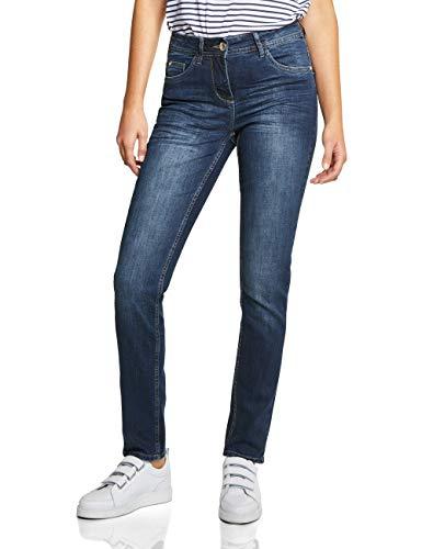 Cecil Damen 371968 Toronto Jeans, mid Blue Used wash, 30W / 32L