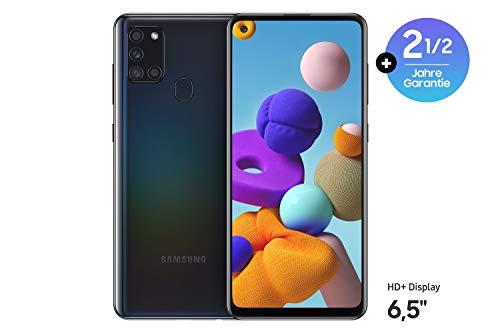 Samsung Galaxy A21s (16.63 cm (6.5 Zoll) 128 GB interner Speicher, 3 GB RAM, Dual SIM, Android, Black) Deutsche Version