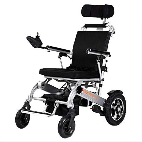 ZXMDP Elektrische rolstoel, licht en opvouwbaar frame, bediening in de rolstoel, draagbaar, reizen, chairfor, geschikt voor ouderen, 15 Ah, lithium batterij