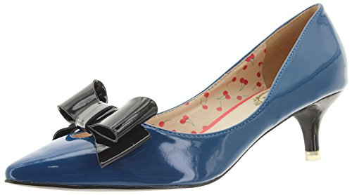 Banned Kitten Heel Pumps Belle BND058 Blau 38