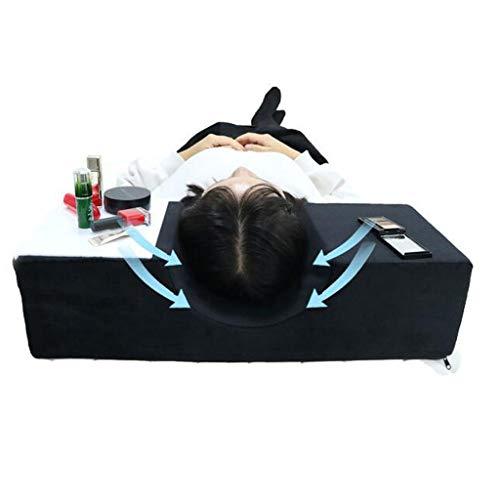 Flurries❦ 👀 ❦Eyelash Extension Neck Contour Pillow - Grafting Lash Ergonomic Curve Cervical Pillow - Special Makeup Beauty Salon Pillow - Memory Foam Improve Sleeping Support (Black)