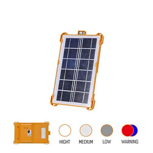 schijnwerper op zonne-energie voor buiten, led, oplaadbaar met USB-aansluiting, van aluminium, waterdicht conform IP55 voor tuin, binnenplaats, lamp, 180 graden wit licht.