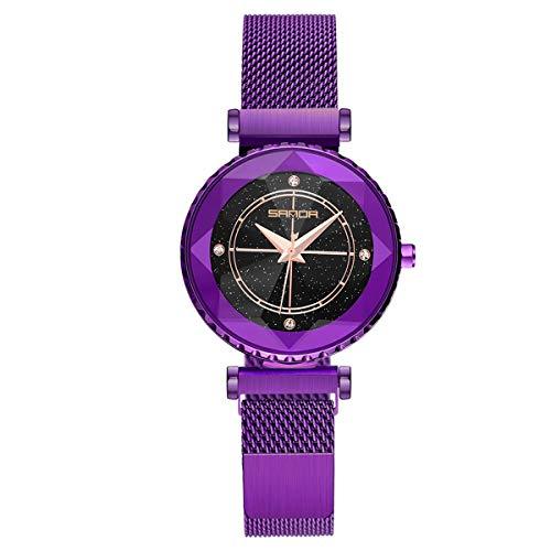 Mujeres Relojes, Allskid Rhinestone Escala de Tiempo Anulo Decoración Centelleo Marcar Malla Correa de Reloj Reloj de Pulsera