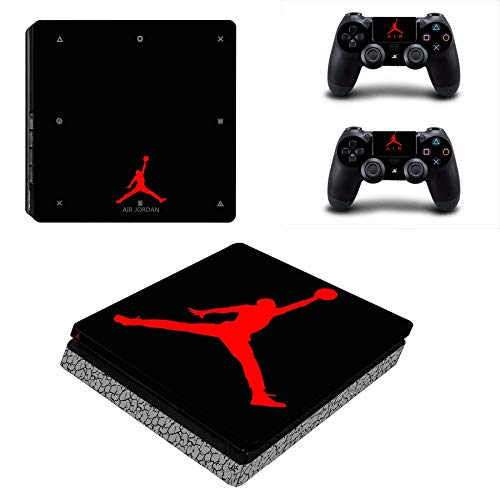 YISHO PS4 Slim Skin Sticker Decal Vinyl voor Playstation 4 Console en 2 Controllers PS4 Slim Skin Sticker