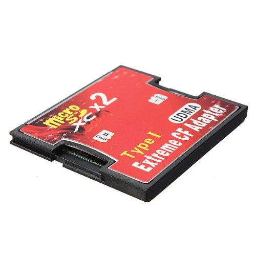 Kalea-Informatique – Adattatore 2 schede microSD microSDHC microSDXC MicroSD 3.0 verso Compact Flash CF I – capacità 128 GB