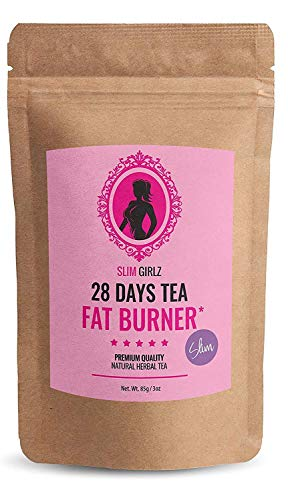 Slim Girlz 28 Days Fat Burner Tea | for Women | 3oz Loose Leaf | Slim Tea for Weight Loss | Detox Tea | Diet & Fat Loss Tea | Cleanse Tea | Natural Dietary Supplement | for More Successful Diet