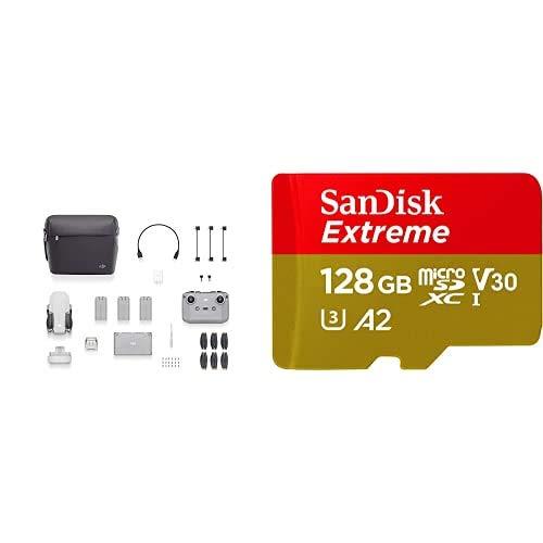 DJI Mini 2 Fly More Combo (EU) + Care Refresh - Dron Ultraligero y Portátil + SanDisk Extreme - Tarjeta de Memoria microSDXC de 128GB con Adaptador SD