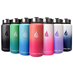 HYDRO CELL stainless steel water bottle. Keeps liquids both hot and cold for extended periods of time. Great for backpacking and travel.