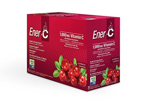 Ener-C - Gluten Free/Vegan Energy Drink Made with Real Fruit Juice Powder, Cranberry