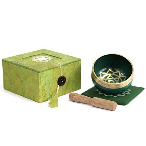 7 chakra sjungskål presentbox set med träslagare och matta/dyna mindfulness meditation yoga...