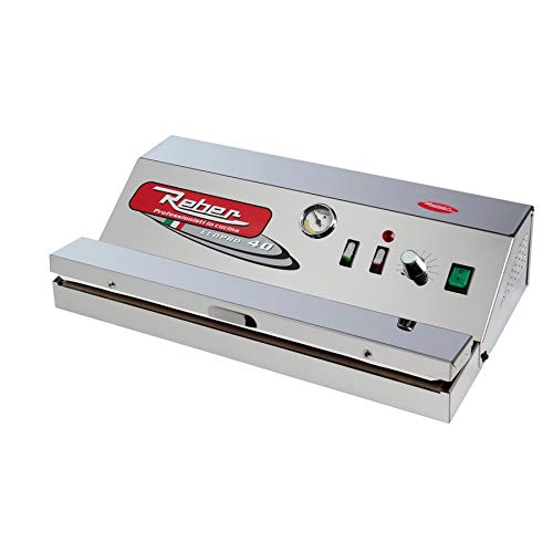 Reber - 9716 N - Appareil à emballage sous vide automatique Ecopro 40, 900 Mo, 30l/min, inox, 290 W, gris
