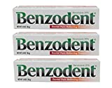 Benzodent Dental Pain Relieving Cream 1 OZ - Buy Packs and SAVE (Pack of 3)