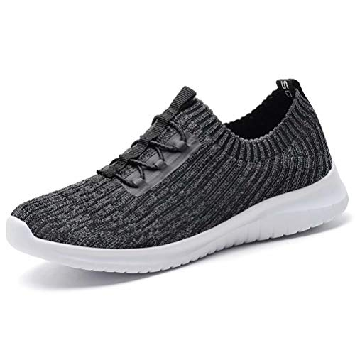 konhill Women's Comfortable Walking Shoes - Tennis Athletic Casual Slip on Sneakers 9.5 US D.Gray,41