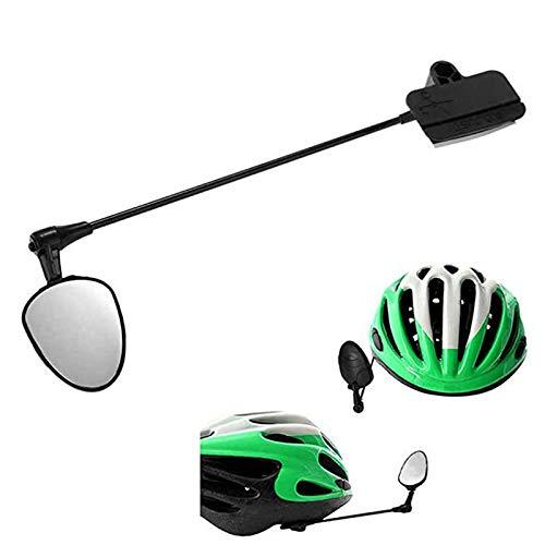 aolongwl Bicicleta espejo retrovisor casco flexible 360 grados ajustable espejo retrovisor ligero aluminio bicicleta montar espejo retrovisor Bicicletas