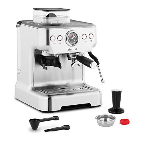 41mGlzDSAeL. SS500  - Royal Catering Espresso Machine Portafilter Machine Portafilter Espresso Maker 20 bar 2.5L LCD RC-BCPM01 (Steel, 1450W…