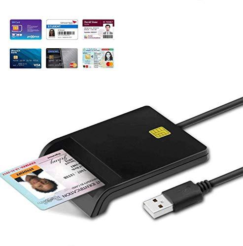 USB-Chipkartenleser DOD-Militär-USB-CAC-Kartenleser, elektronische Erklärung der ansässigen Basisregistrierungskarte,mit öffentlich zugänglichem Adapter/ID-Karte/SIM-Karte/IC-Bank-Chipkarte