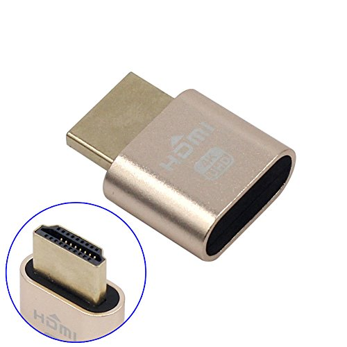 Espeedy Adaptador de pantalla virtual ,WBTUO VGA HDMI 1.4 DDC EDID Conector de prueba simulado Emulador de pantalla