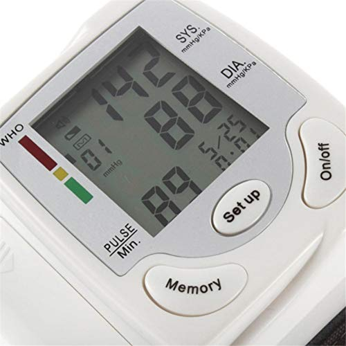 youngfate Blutdruckmessgerät Handgelenk Testsieger Professionelle Tagbare Digitale Blutdruck- und Pulserkennung mit LCD Großem Display Mehrweg