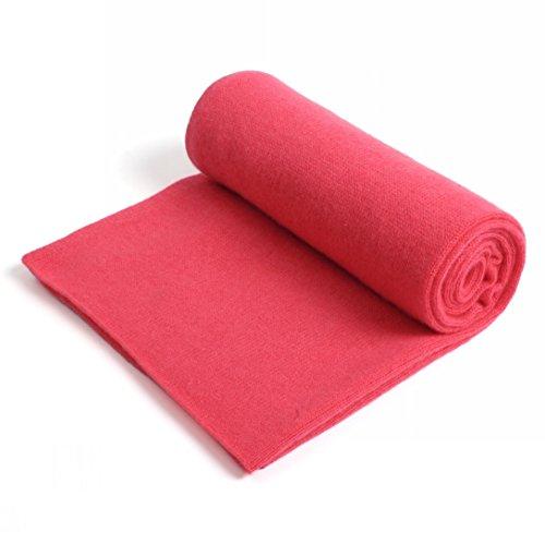 prettystern 100% Kaschmir 200cm Damen Herren Schal Strick-Schal Winter Schulter-Stola - Pink Rosa