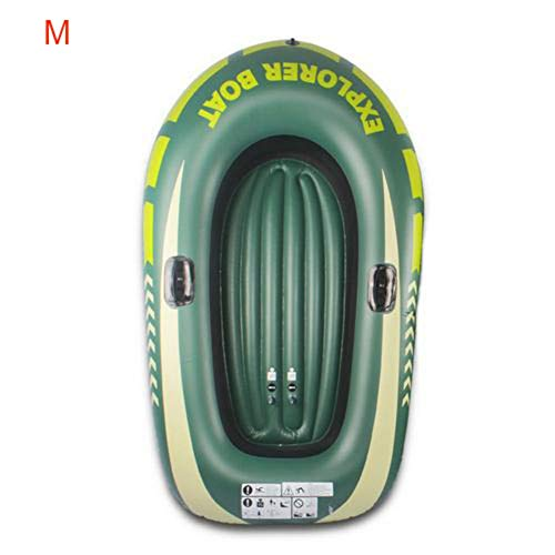 Loveinwinter Inflatable Raft Boat, Thicker Durable Inflatable Kayak Fishing Boat with Double Valve for Adults Fishing(59 x 39inch)