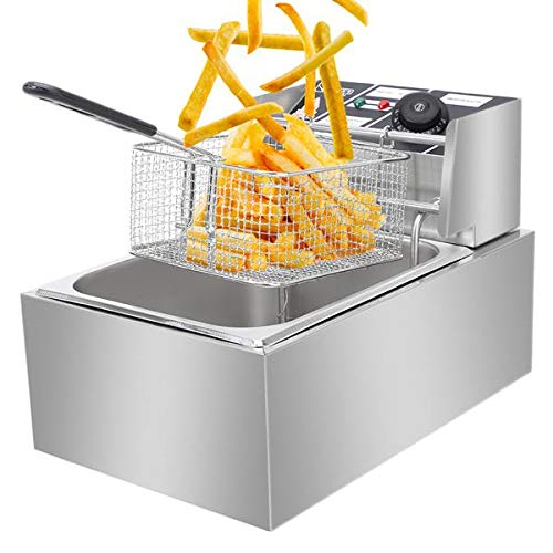 Deep Fryer Made of Stainless Steel with Cover Basket
