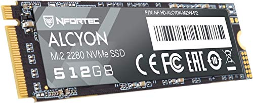 Nfortec Alcyon M.2 SSD 512GB NVMe,Disco Duro Estado sólido Interno con Interfaz PCI Express Gen3