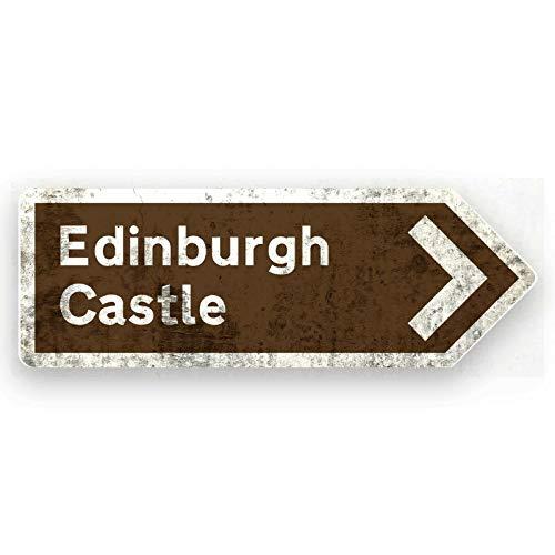 No Branded Letrero metálico para pared, diseño de flecha del castillo de Edimbrugh