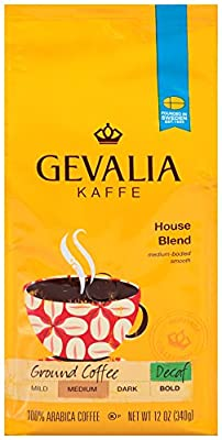 GEVALIA House Blend Coffee, Ground, 12 Ounce