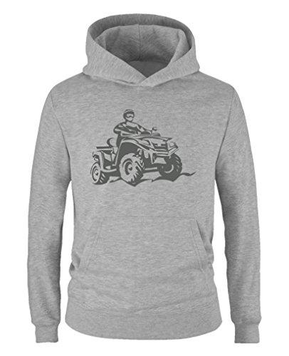 Comedy Shirts - Quad ATV - Jungen Hoodie - Grau/Grau Gr. 122/128