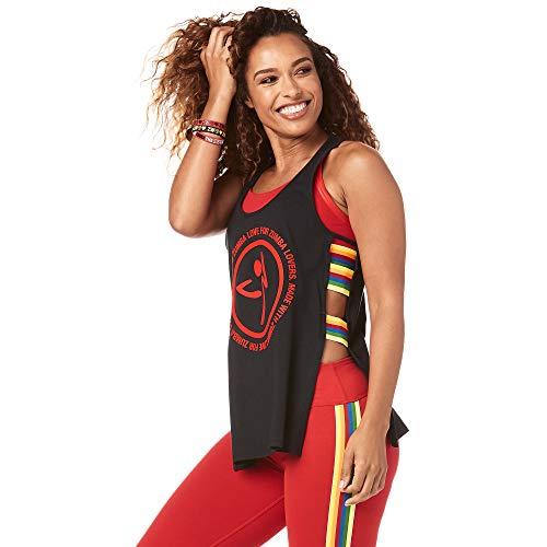 Zumba Camiseta sin Mangas de Lateral Abierto para Mujer Pequeña B2b Negro