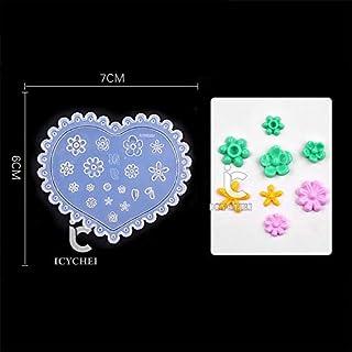 ICYCHEER 6 Stijl 3D Acryl Mold Voor Nagel Art Decoratie DIY Hartvorm Shell Ontwerp Siliconen Nagel Art Sjablonen Patroon M...