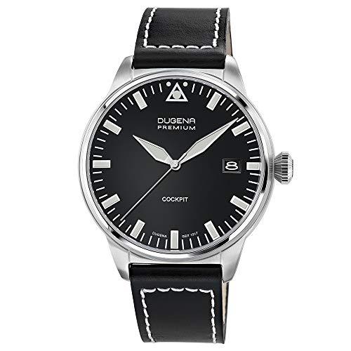 Dugena Herren-Armbanduhr COCKPIT Analog Quarz Leder 7000178