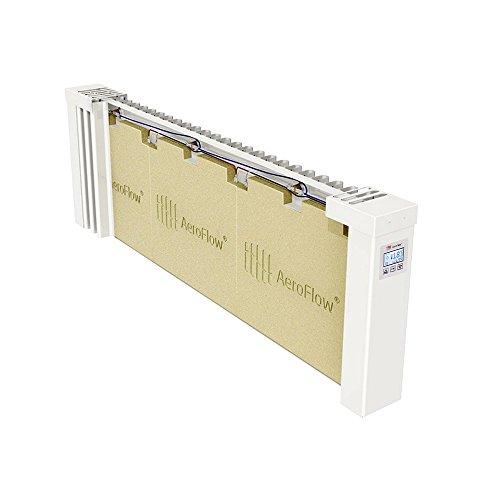 AeroFlow Radiateur électrique Slim 1200 avec Briques réfractaires et Multi-contrôleur FlexiSmart (Andorid et iOS) Chauffage à Accumulation de Surface en Tant Que Chauffage d'appoint électrique