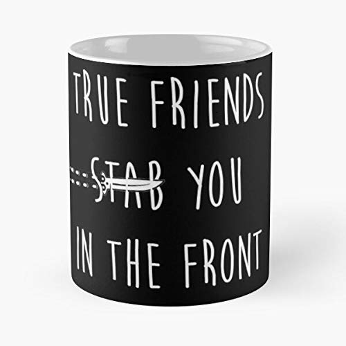 Bring Horizon True You In Friends The Me BMTH Stab Front Taza de café con Leche 11 oz