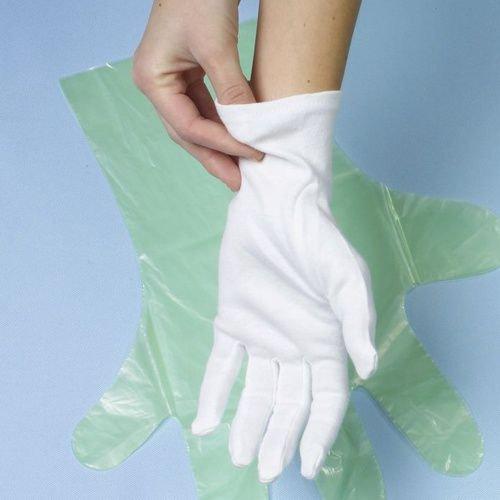 Polierhandschuhe Unterziehhandschuh Eindeckhandschuhe Confiserie 100% Baumwolle Gastronomie Handschuhe Catering (12, M)