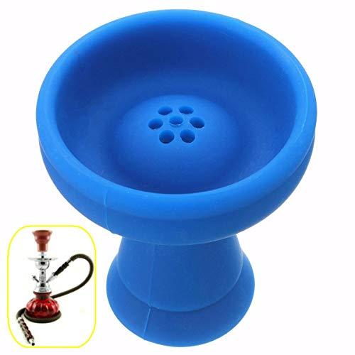 LMIAOM 48x90mm Azul Irrompible Gel de sílice Silicona Shisha Hookah Bowl Cabeza Pipa de tabaco Bowl Accesorios de hardware Herramientas de bricolaje