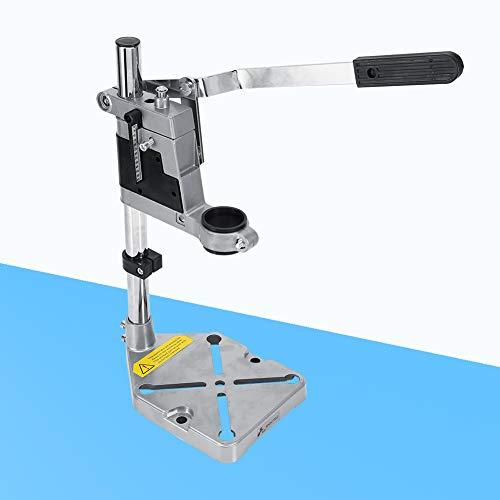 Clamp Drill Press Stand, Tischklemme Bohrmaschine Pressständer, Werkbank Reparatur Werkzeugklemme Vertikaler Bohrständer, Gesamthöhe: 400 mm Wellendurchmesser: 25 mm Aluminium + Kohlenstoffstahl
