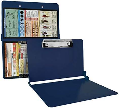 Nursing Clipboard Foldable Blue Aluminum Nurse Clipboard with Generous Storage Lightweight Portable product image