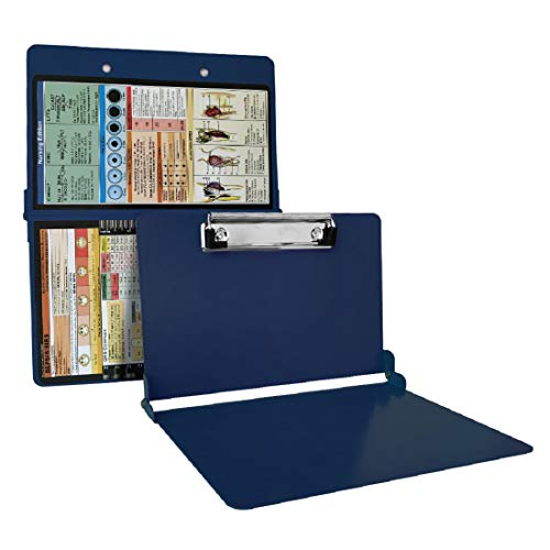 Folding Nursing Clipboard | Premium Aluminum Nurse Clipboard Foldable Nurses Folding Board with Generous Storage | Ideal Gifts for Nurses, Medical Students and Healthcare Professionals ¡ (Blue)