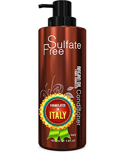 Moroccan Argan Oil Conditioner Sulfate Free - Best for Damaged, Dry, Curly or Frizzy Hair -...