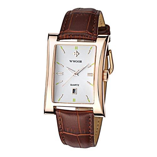 Reloj para Hombre Reloj para Hombre Cronógrafo Fecha analógica Relojes de Moda de Cuarzo-A
