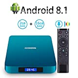 Android TV Box, 2019 Newest Android Box 8.1 with 4GB RAM 32GB ROM Amlogic S905X2 Quad core Bluetooth...