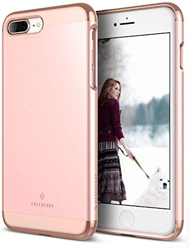 Caseology Savoy for Apple iPhone 7 Plus Case (2016) - Stylish Design - Rose Gold