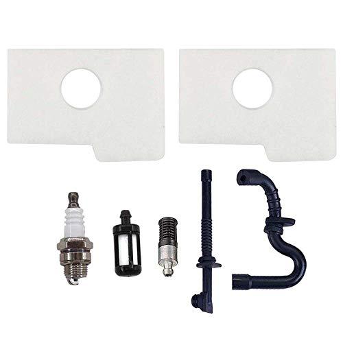AISEN 2x Luftfilter mit Öl Benzin Filter Schlauch & Zündkerze für Stihl 017 018 MS170 MS180 MS180C MS 170 180 Kettensäge