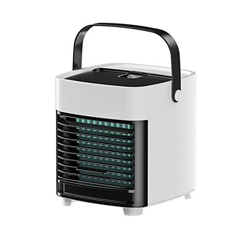 Ultra- leiser tragbarer USB Klimaanlage Ventilator Schlafzimmer Wohnzimmer Büro Reise Wasserkühlung Drei Windkraft (Color : White)