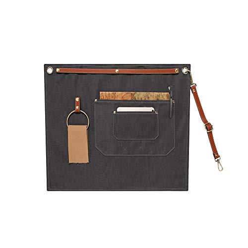WANGXN Werket Schort Canvas met zakken Schort Werkplaats Tool Schort voor salon Hairstylis