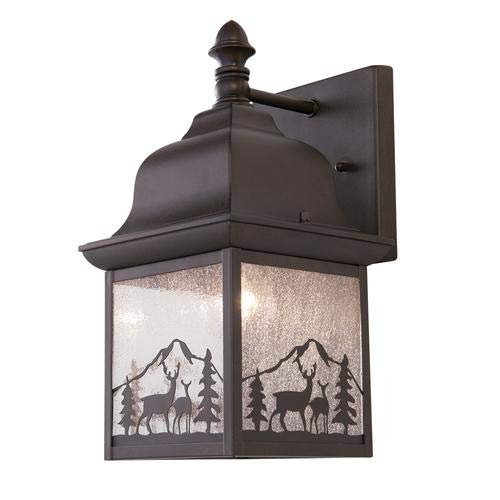 Patriot Lighting Whitetail Tannery Bronze Outdoor Wall Light