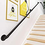 Gorssen Main Courante - Kit Complet.Balustrades d'escalier en métal intérieur et extérieur, Balustrade Garde Corps terrasse Rampe escalier pour Personnes âgées, Enfants,300cm